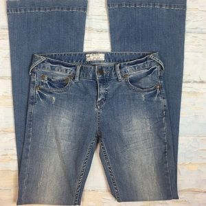 FP Free People bell bottom flare jeans 28